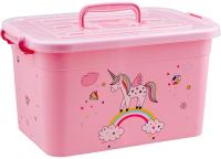Ящик для хранения Полимербыт Радуга 80901 (розовый) -