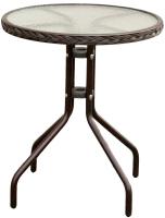Стол садовый Mebius Cafe / 190009 (сталь, с оплетением) -