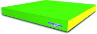 Гимнастический мат Romana 5.001.10 (светло-зеленый/желтый) -