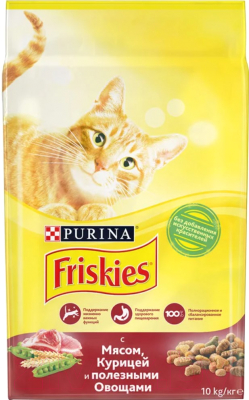 Корм для кошек Friskies С мясом, курицей и овощами