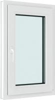 Окно ПВХ Brusbox Roto Одностворчатое Поворотно-откидное правое 3 стекла (70x500x600) -
