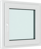 Окно ПВХ Brusbox Roto Одностворчатое Поворотно-откидное правое 2 стекла (60x900x900) -