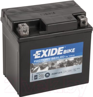 Мотоаккумулятор Exide AGM12-5 (4 А/ч)