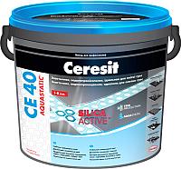 Фуга Ceresit СЕ 40 Aquastatic (5кг, серебристо-серая) -