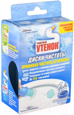 Чистящее средство для унитаза Туалетный утенок Морская свежесть с дозатором средство чистящее nordland морская свежесть д ванн пена 0 6л