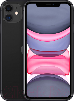 Смартфон Apple iPhone 11 64GB / MHDA3 (черный)