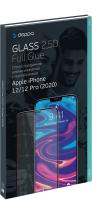 Защитное стекло для телефона Deppa Protective Glass 2.5D Full Glue для iPhone 12/12 Pro (черный) -