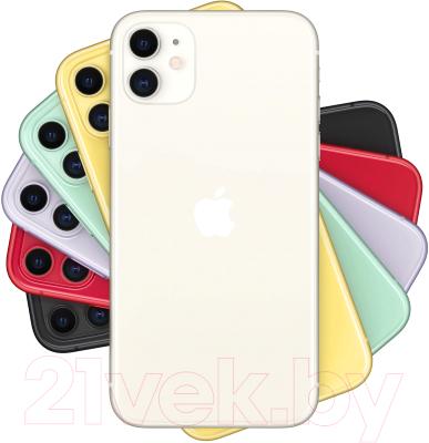 Смартфон Apple iPhone 11 64GB / MHDC3 (белый)
