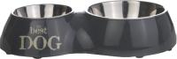 Набор мисок для животных Beeztees Двойная / 650396 (серый) -