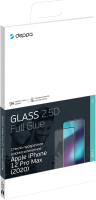 Защитное стекло для телефона Deppa Protective Glass 2.5D Classic Full Glue для iPhone 12 Pro Max -
