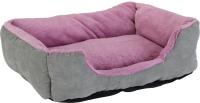 Лежанка для животных Beeztees Baboo / 704808 (серый/фиолетовый) -