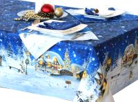 Скатерть Блакiт Рождественская ночь с салфетками 4473 / D148 -