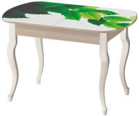 Обеденный стол Ивару Прага (с фотопечатью/опоры массив/ясень шимо светлый) -
