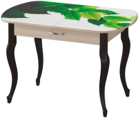 Обеденный стол Ивару Прага-2 (с фотопечатью/опоры массив/ясень шимо светлый) -