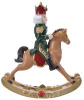 Статуэтка GreenTerra Щелкунчик на лошадке 530468 -