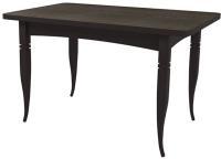 Обеденный стол Ивару Ялта-2 (опоры массив резной/венге/анкор темный) -