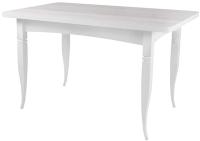 Обеденный стол Ивару Ялта-2 (опоры массив резной/белый/анкор светлый) -