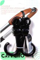Крючок для коляски Carrello Двойной / CRL-7002 (2шт) -