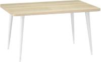 Обеденный стол Ивару Сочи 2 (опоры массив цилиндрические/белый/дуб сонома) -