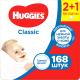 Влажные салфетки Huggies Classic (168шт) -