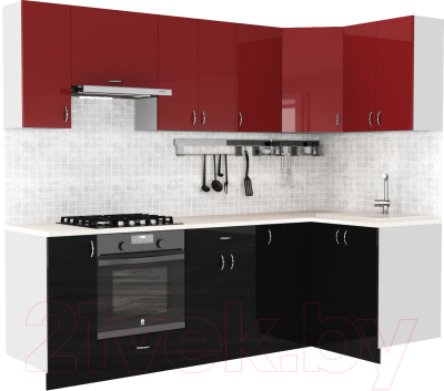 Готовая кухня S-Company Клео глосc 1.2x2.5 правая