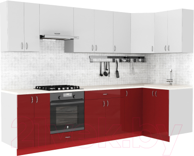 Готовая кухня S-Company Клео глосc 1.2x2.9 правая