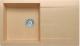 Мойка кухонная Polygran Gals-860 (бежевый) -