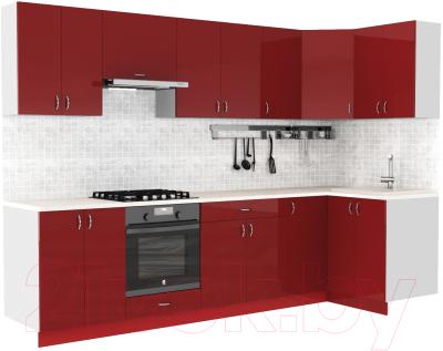 Готовая кухня S-Company Клео глосc 1.2x3.0 правая