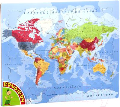 Пазл Bondibon Карта мира / ВВ4663