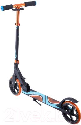 Самокат Ridex Liquid 180мм (черный/оранжевый)