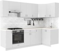 Готовая кухня S-Company Клео глоcс 1.2x2.6 правая (белый глянец/белый глянец) -