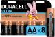 Комплект батареек Duracell UltraPower AA (8шт) -
