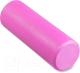 Валик для фитнеса массажный Indigo Foam Roll / IN021 (розовый) -