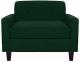 Кресло мягкое Brioli Берн (J8/темно-зеленый) -