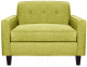 Кресло мягкое Brioli Берн (J9/желтый) -