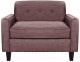 Кресло мягкое Brioli Берн (J10/сиреневый) -