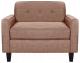 Кресло мягкое Brioli Берн (J11/розовый) -