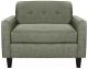 Кресло мягкое Brioli Берн (J20/серый) -