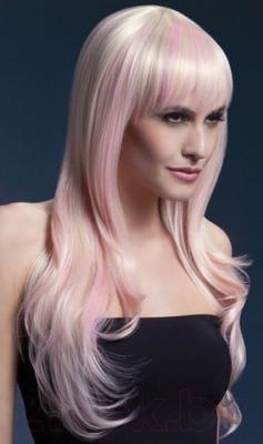 Парик Fever Блонд с розовыми прядями