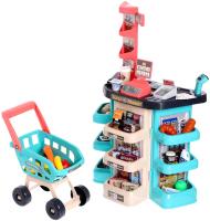 Магазин игрушечный Sima-Land Супермаркет 47 предметов / 5081504 (бирюзовый) -