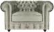 Кресло мягкое Brioli Честер Классик (B8/светло-серый) -