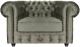 Кресло мягкое Brioli Честер Классик (B10/серо-коричневый) -
