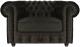 Кресло мягкое Brioli Честер Классик (B17/темно-серый) -