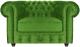 Кресло мягкое Brioli Честер Классик (B26/зеленый) -