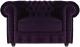 Кресло мягкое Brioli Честер Классик (B40/фиолетовый) -