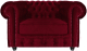 Кресло мягкое Brioli Честер Классик (B48/вишневый) -