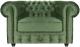 Кресло мягкое Brioli Честер Классик (B61/мятный) -