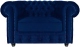 Кресло мягкое Brioli Честер Классик (B69/синий) -