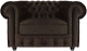 Кресло мягкое Brioli Честер Классик (B74/коричневый) -