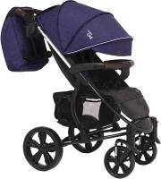 Детская прогулочная коляска Bubago Model One (Navy Peony/Black) -